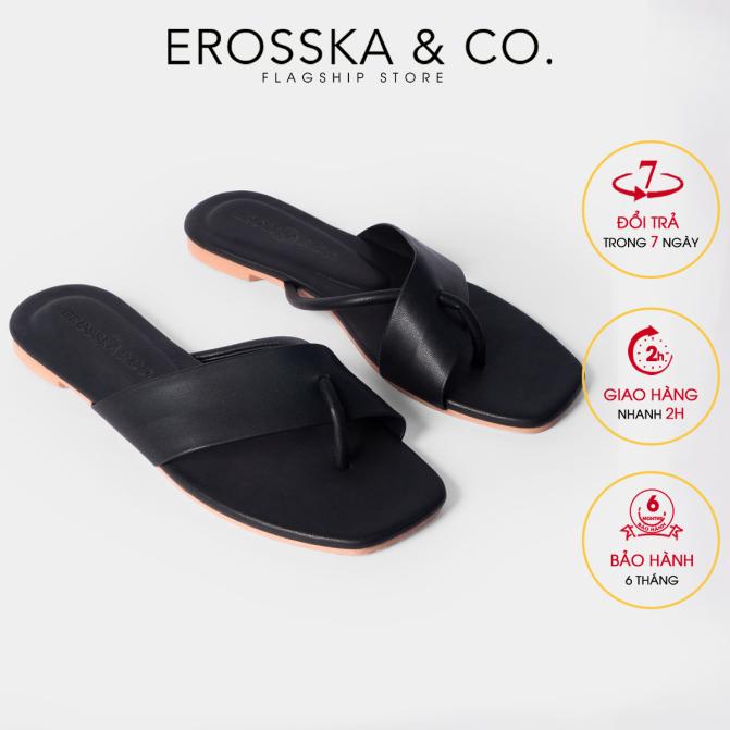 Dép đi biển thời trang Erosska 2021 phối dây cách điệu trẻ trung DE034 (BA) giá rẻ