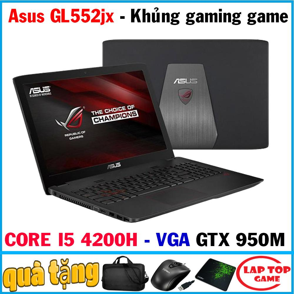 Lazada Khuyến Mãi Khi Mua Laptop Asus GL552JX Khủng Long Game (Core I5-4210H/ 8G/ 500G /VGA NVIDIA GTX 950M, Màn 15.6 In FHD 1920*1080) DÒNG LAPTOP CHUYÊN GAME