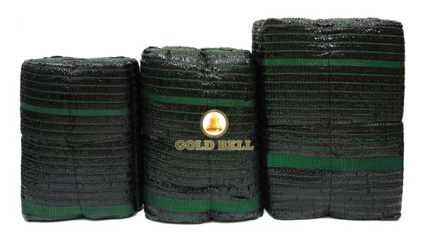 Lưới che nắng Goldbell (Chuông Vàng) tấm - khổ 4m x 5m - màu đen