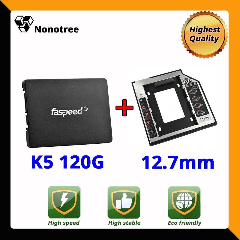 Ổ cứng SSD K5 120GB Faspeed SATA3 2.5inch 3 năm đổi mới Caddy 12.7mm Nonotree 90GB 128GB Tham khảo