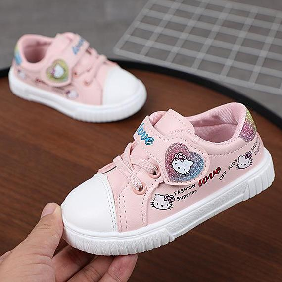 Giá bán giày bé gái size 16-26 kitty da mềm