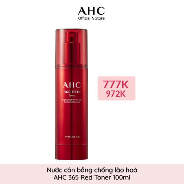 Nước Cân Bằng Chống Lão Hóa  AHC 365 Red Toner 100ml cao cấp