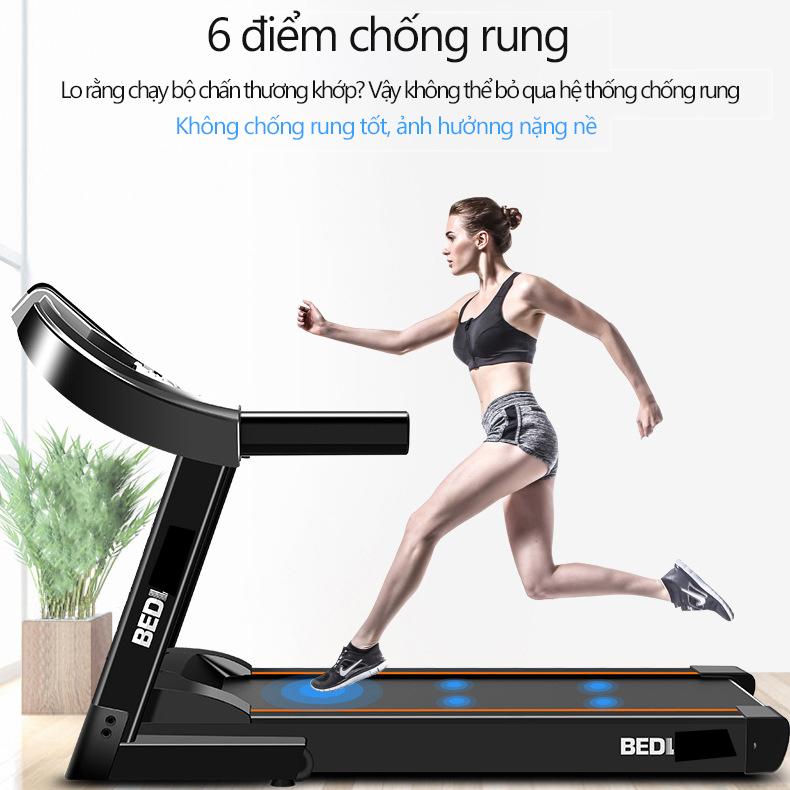 Bảng giá Máy chạy bộ trong nhà máy chạy bộ mini máy tập trong nhà máy gym BEDL có thể gấp gọn chạy điện yên tĩnh có thể phát nhạc chống rung chống ồn chịu tải lên đến 100KG  camry