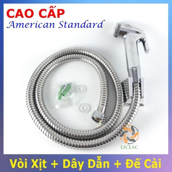 Bảng giá Bộ vòi xịt vệ sinh Cao Cấp, kèm dây dẫn và đế cài American Standard 00440 - Vòi xịt vệ sinh bằng INOX - LICLAC