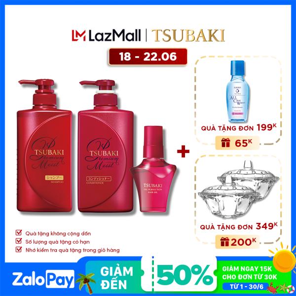 Bộ sản phẩm Tsubaki dưỡng tóc bóng mượt và bảo vệ tóc trước tác hại của tia UV