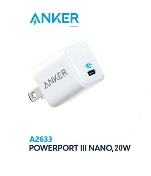 Củ Sạc Nhanh Anker Powerport III Nano Usb-C Power Delivery