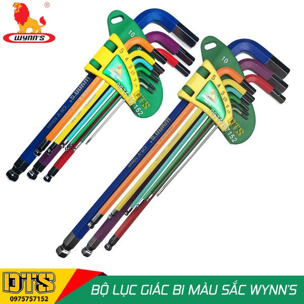 Bộ lục giác đầu bi 9 món (nhiều màu sắc) WYNN'S, bộ khóa lục giác thép cứng cao cấp CR-V hàng chất lượng cao