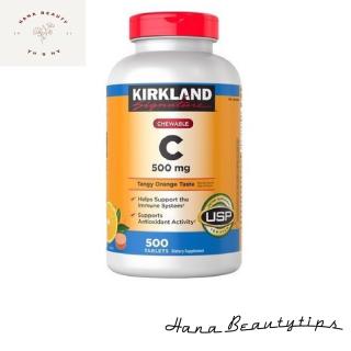 [ Hàng Chính Hãng Mỹ ] Viên nhai bổ sung vitamin c Kirkland Signature chewable vitamin c 500mg 500 viên thumbnail
