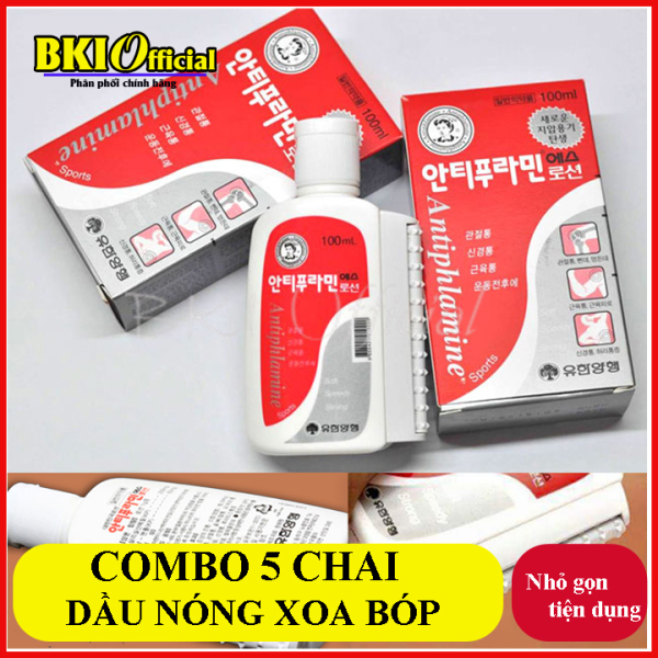 Combo 5 chai dầu nóng Hàn Quốc nhập khẩu