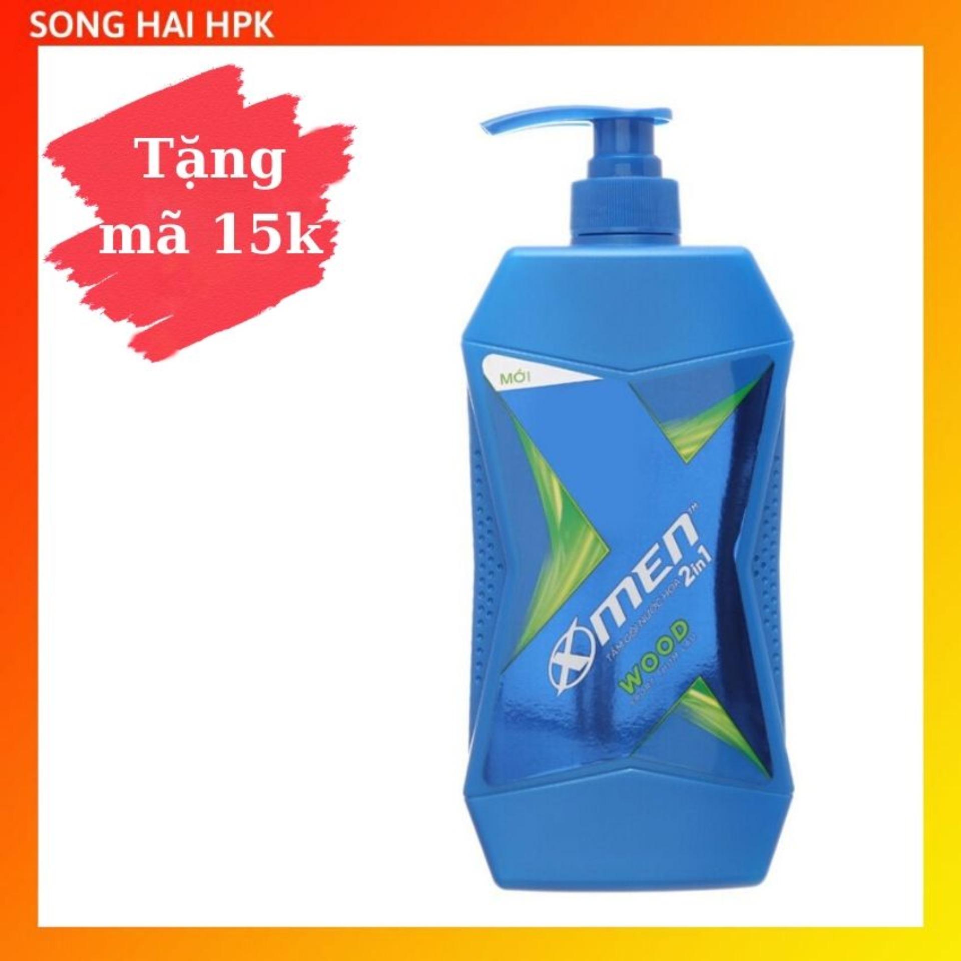 Sữa tắm nước hoa X-Men Wood Sport - Mùi hương gỗ thơm lâu 650g Songhaihpk nhập khẩu