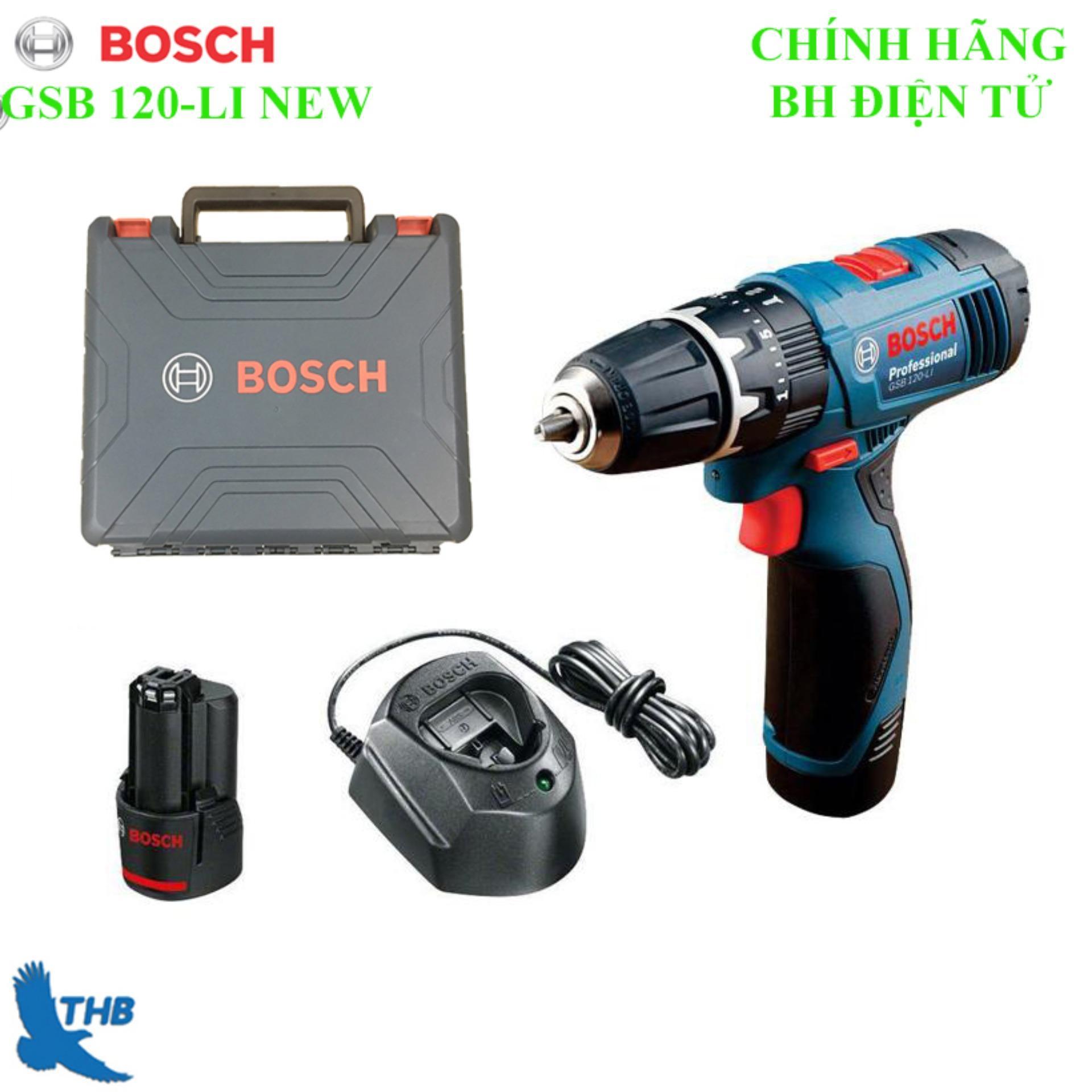 Máy khoan động lực dùng Pin Máy khoan bắt vít dúng Pin 12V Bosch GSB 120-LI NEW Bảo hành 12 tháng xuất xứ Malaysia 2  Pin 12V