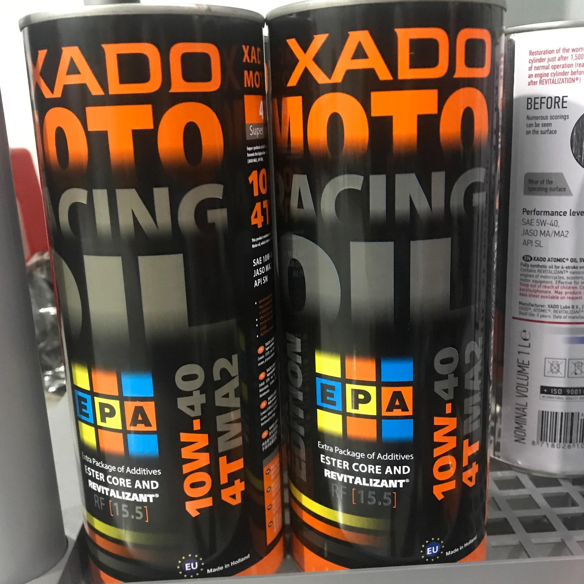 Offer Khuyến Mãi NHỚT XADO MOTO RACING OIL 10W40 TỔNG HỢP 100% (Giá 1 Lon)