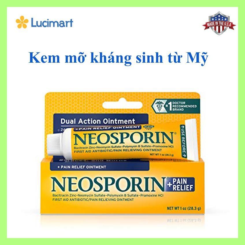 1 tuýp x 28.3g. Thuốc mỡ kháng sinh từ USA: NEOSPORIN® First Aid Maximum Strength Ointment (hạn dùng 11/2020) nhập khẩu