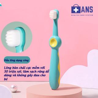Bàn chải đánh răng trẻ em cao cấp cho bé 1-2-3-4-5-6-7-8-9-10-11-12 tuổi lông mềm, chống trơn trượt thumbnail