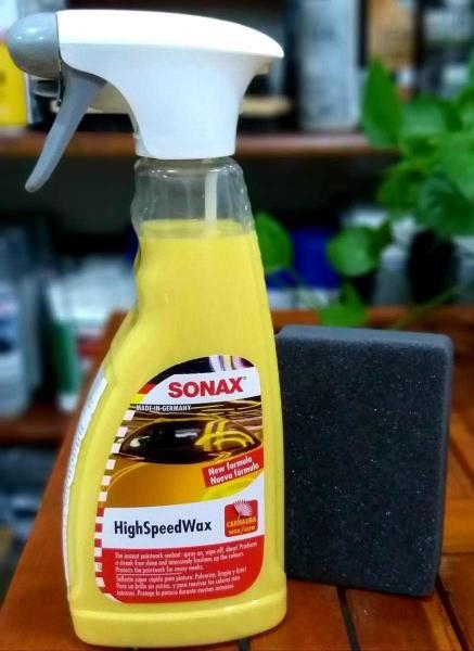 Chai Xịt Sonax HighSpeedWax 500ml (Carnauba Đánh Bóng Ướt)