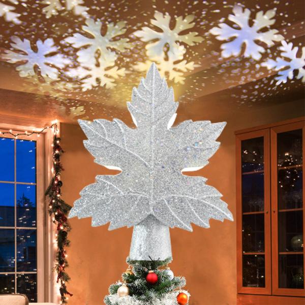 Bảng giá 【TTH MALL】 Đèn LED cây thông Noel Topper Star 3D Top Light Projection Đèn trang trí bữa tiệc Giáng sinh cho Home Bar Cafe Nhà hàng