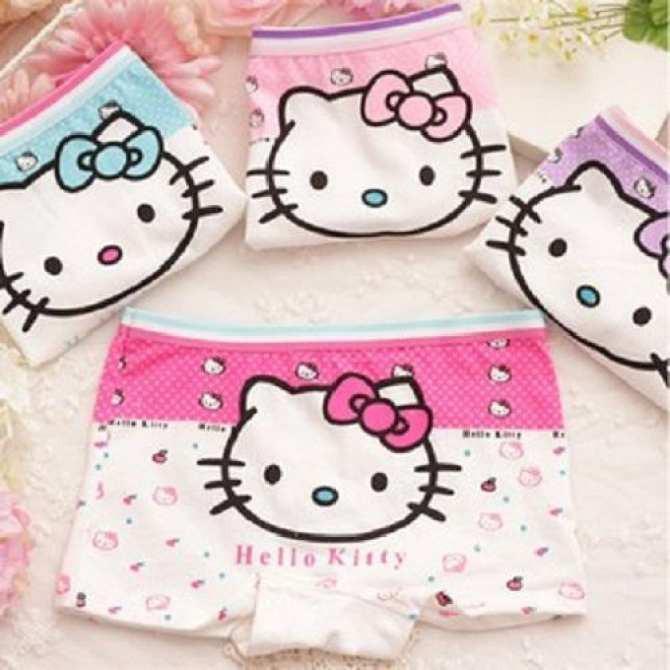 Giá bán Set 10 quần lót dạng đùi chất cotton in hình hoạt hình bé gái