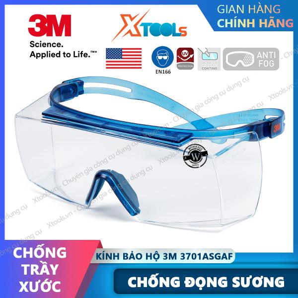 Giá bán Kính bảo hộ 3M SF3701ASGAF-BLU kính Super OTG đeo ngoài kính cận, chống trượt, chống hơi nước, trầy xước, chống tia UV [XTOOLs][XSAFE]