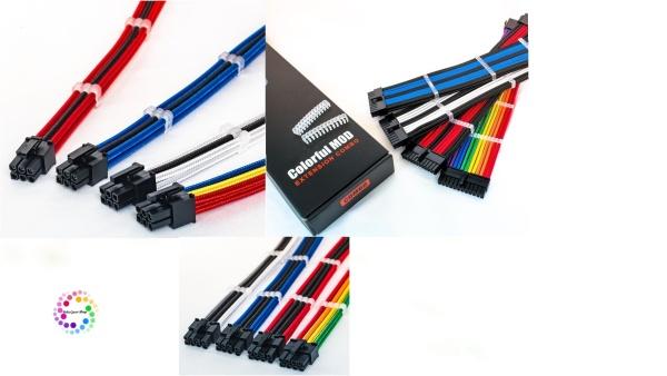 Bảng giá Dây nguồn nối dài bọc lưới Color Mod 24 pin ,8 pin (6+2) ,8 pin(4+4),6 pin VGA ,lõi 16AWG, 3 lớp, Nhiều màu sắc Tùy chọn Phong Vũ