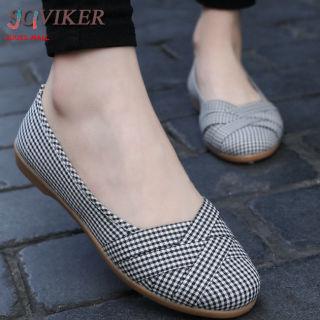SOVIKER Giày Nữ Thường Ngày Giày Vải Trượt Thoáng Khí Giày Đế Bằng Thoải Mái Cho Nữ Giày Lười Nữ Giày Đi Bộ thumbnail