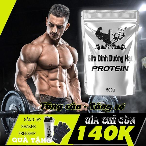 COMBO 2 túi Sữa Tăng Cân Tăng Cơ Hạt Protein + Tặng bình lắc 700ml cao cấp