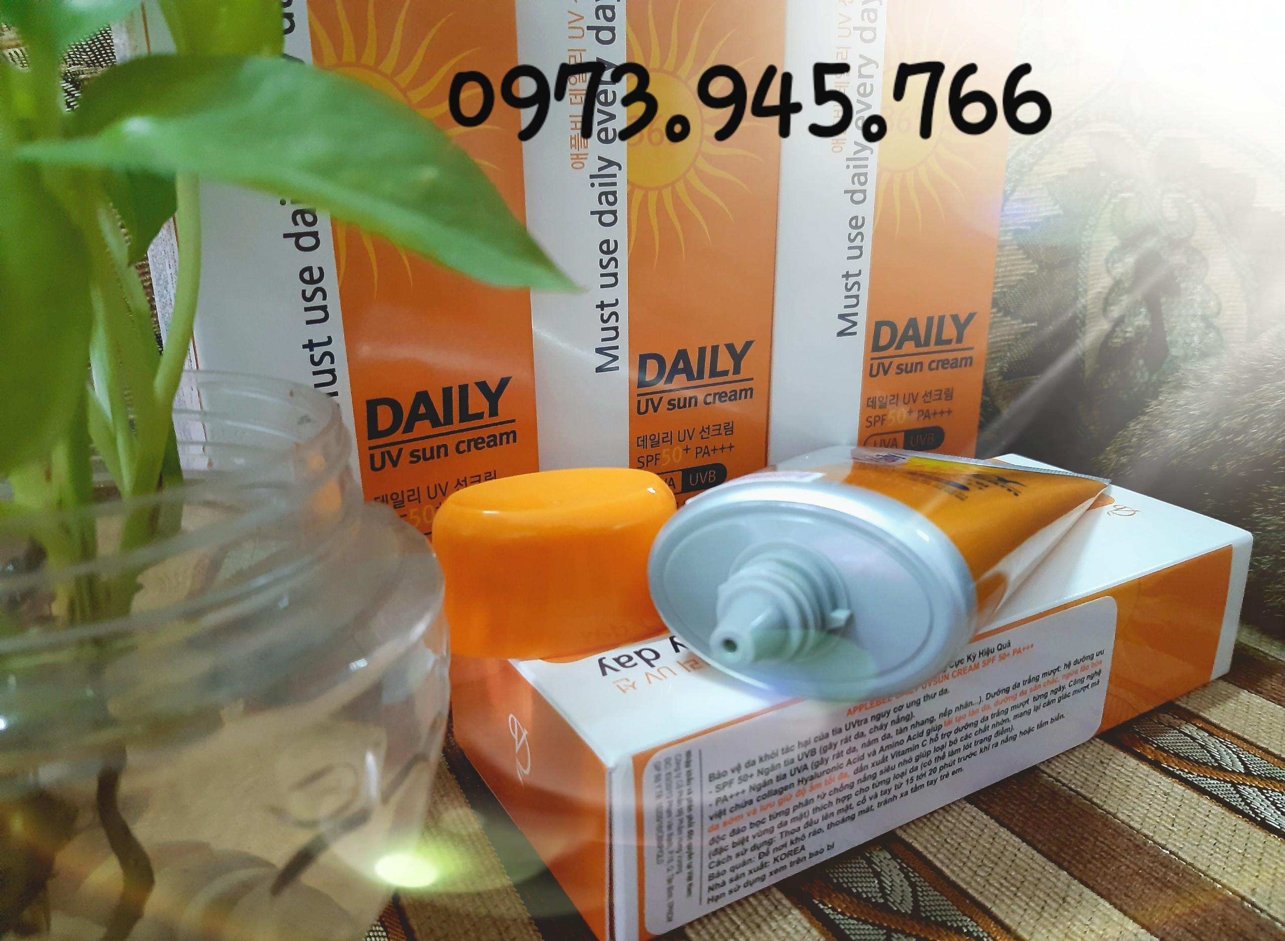 Kem chống nắng DAILY UV sun cream Hàn Quốc. - DAILY tốt nhất