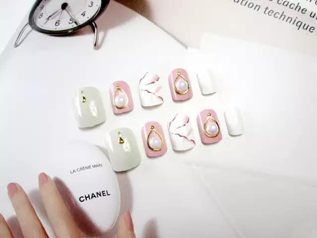 Bộ 24 Móng tay giả , nail giả A48 (kèm keo dán) tốt nhất