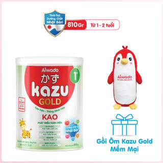 [Tinh tuý dưỡng chất Nhật Bản] Sữa bột KAZU KAO GOLD 810g 1+ thumbnail