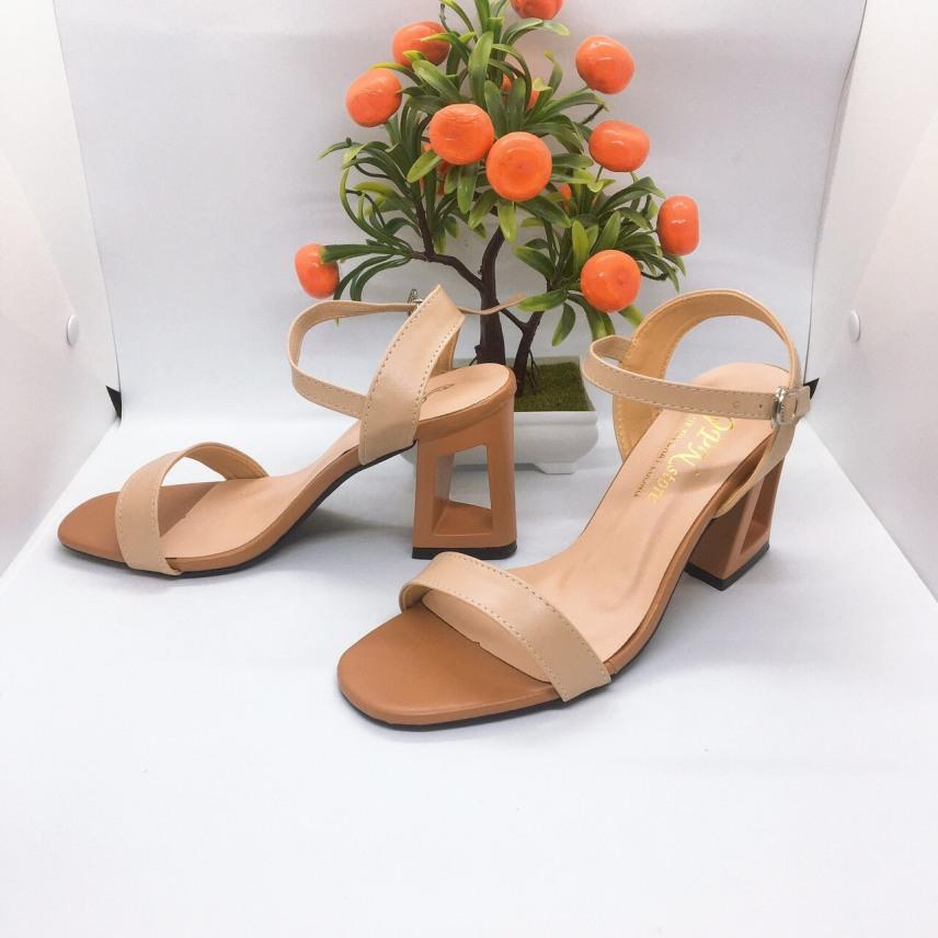 [ẢNH THẬT] Giày cao gót sandal 7 phân quai bản giá rẻ