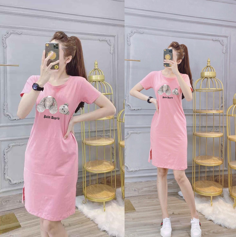 Đầm Suông Nữ Xẻ Tà Thun Thái Xịn Co Giãn Tốt Form Dài Cùng Giá Khuyến Mãi Hot