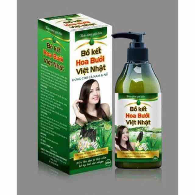 Dầu gội bồ kết hoa bưởi Việt Nhật chai 300 ml