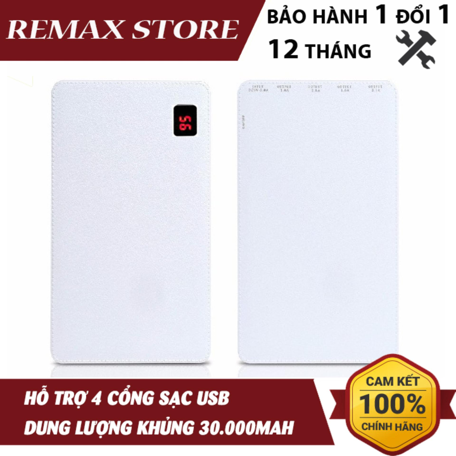 Pin Dự Phòng Remax Proda Notebook 30000mah 4 cổng USB PP-N3