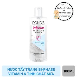 [HCM]Nước tẩy trang bi-phase Vitamin và tinh chất Sữa Ponds Micellar Water 100ml thumbnail