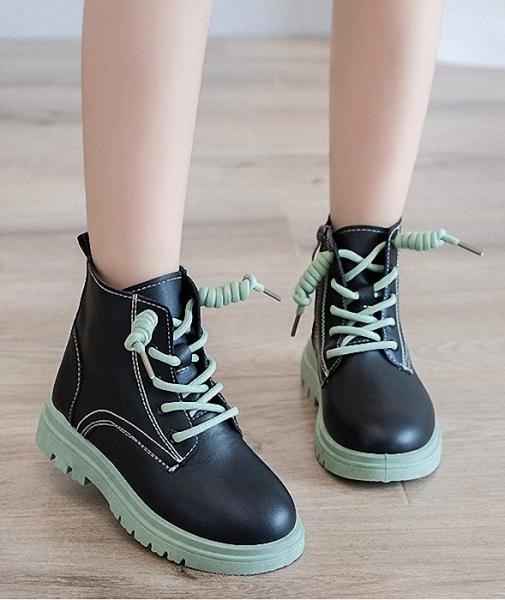 Giá bán Giày bốt cho bé gái khóa kéo dễ thương, da mềm , đế êm, phong cách hàn quốc HQ38