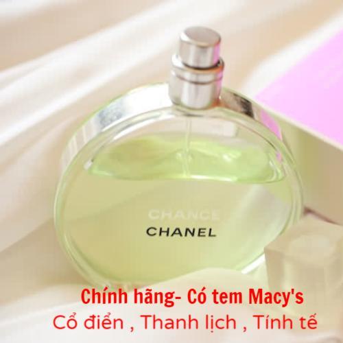 Nước Hoa Nữ Chanel Chance Eau De Toilette 100ml (Hàng Macys có tem)