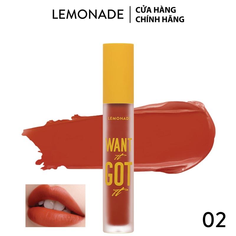 Son Kem Lì Nhẹ Môi Lemonade Want It Got It Lipcream 5g