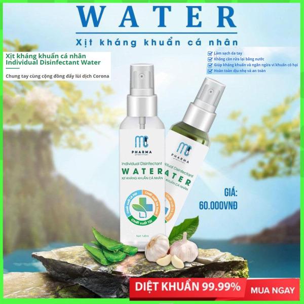 Xịt Kháng Khuẩn cá nhân 120ml MC PHARMA Individual Disinfectant Water, Dung dịch rửa tay khô sát khuẩn, diệt khuẩn 99,99% giá rẻ