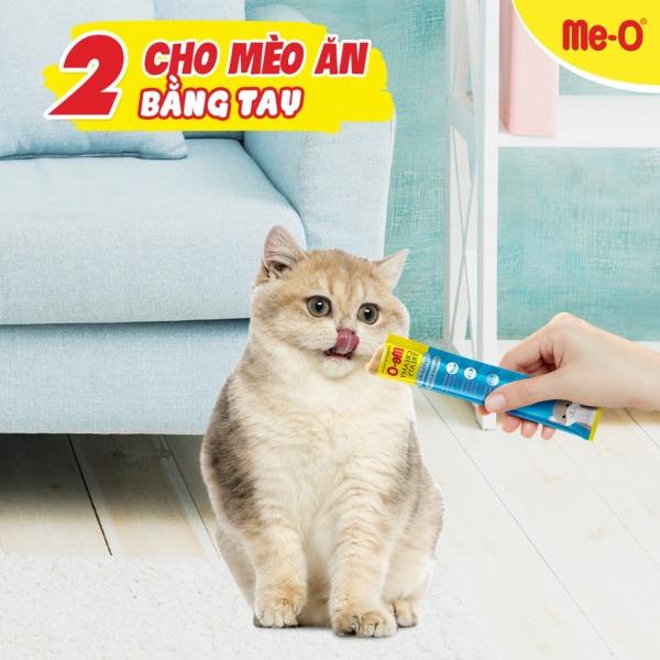 Me-O Creamy Treats - Bánh thưởng dạng kem cho mèo Me-O vị cá ngừ - 1 thanh 15 gram