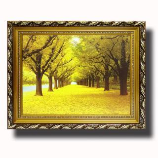 Tranh treo tường - Rừng Lá Vàng - Tranh Minh Hiền (KHUNG GỖ - 70 x 100cm) thumbnail