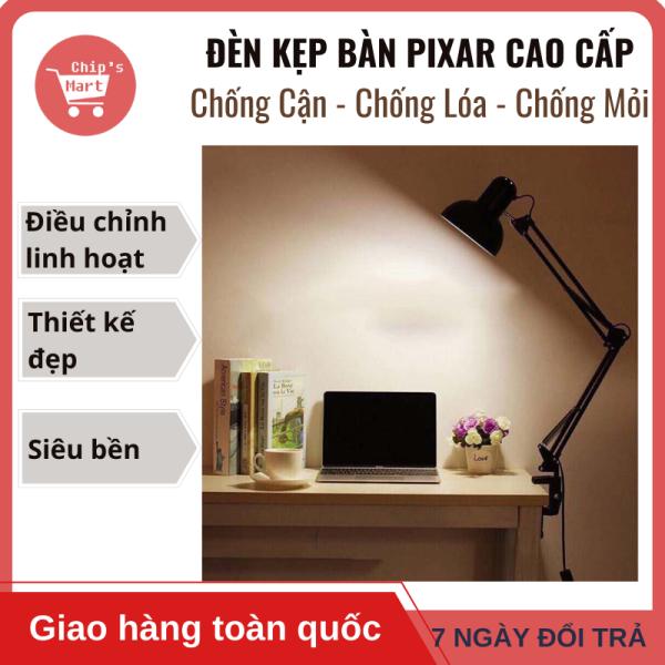 Đèn bàn kỹ thuật PIXAR Dạng Kẹp, kích thước lớn sử dụng học tập, làm việc, trang trí nhà cửa. Đèn Bảo Vệ Mắt - Chống Cận – Chống Lóa – Chống Mỏi Mắt, điều chỉnh góc độ linh hoạt 360o