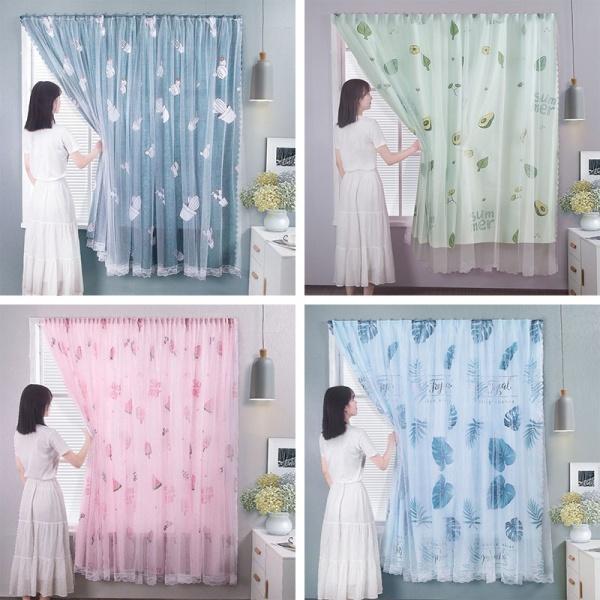 Rèm cửa dán tường ✅FREESHIP✅ chống nắng, rèm cửa dán trang trí cửa sổ - phòng khách dễ dàng lắp đặt không khoan đục