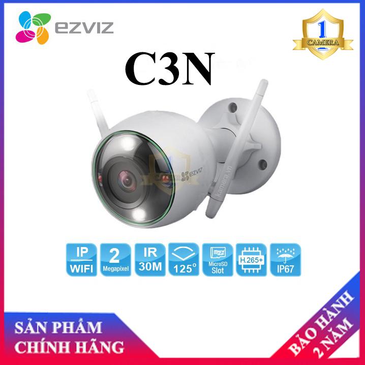[NHÀ PHÂN PHỐI]Camera Wifi EZVIZ C3N Full HD 1080P, có màu ban đêm , không còi , có đèn báo động , báo động AI nhận dạng người và xe- Camera số 1