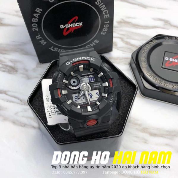 Đồng hồ thể thao nam G-SHOCK GA-700-1A+ REP 11 + Dây cao su ĐEN VIỀN ĐỎ + Bảo hành 2 năm + FULL BOX + ĐỒNG HỒ HẢI NAM bán chạy
