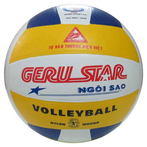 [HCM]Bóng Chuyền Số 5 Geru Star Tặng kim bơm và lưới đựng bóng
