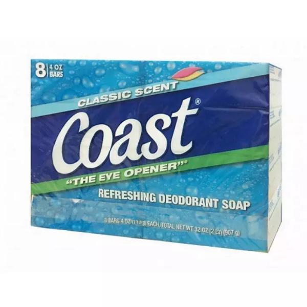 Com 2 xà bông Coast Mỹ bán lẻ 113g, làm sạch vi khuẩn và mùi hôi trên cơ thể, mùi hương dịu nhẹ giúp bạn thoải mái khi sử dụng