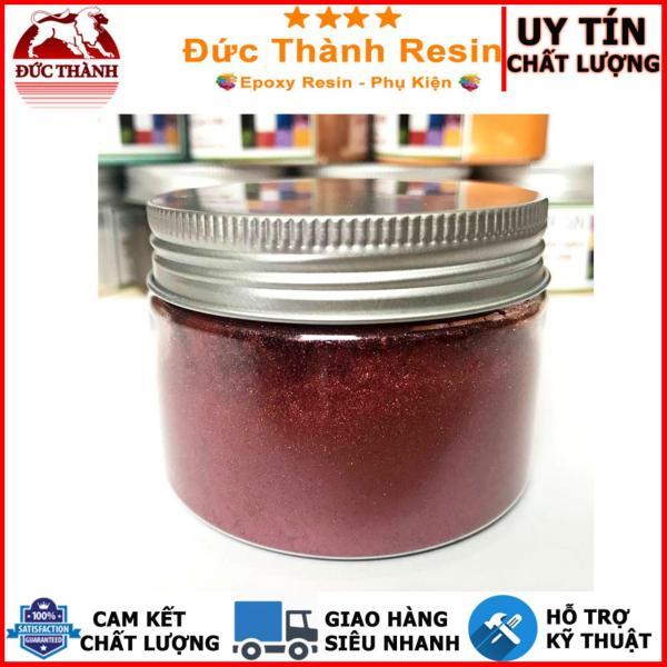 Bột camay nhũ ánh kim pha Epoxy Resin màu ĐỒNG ĐỎ - RED COPPER 50g