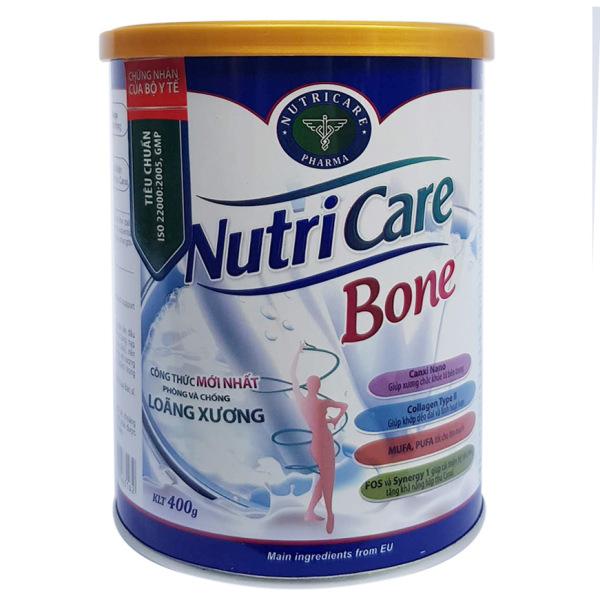 Sữa bột Nutricare Bone - phòng loãng xương, cải thiện xương khớp (400g)