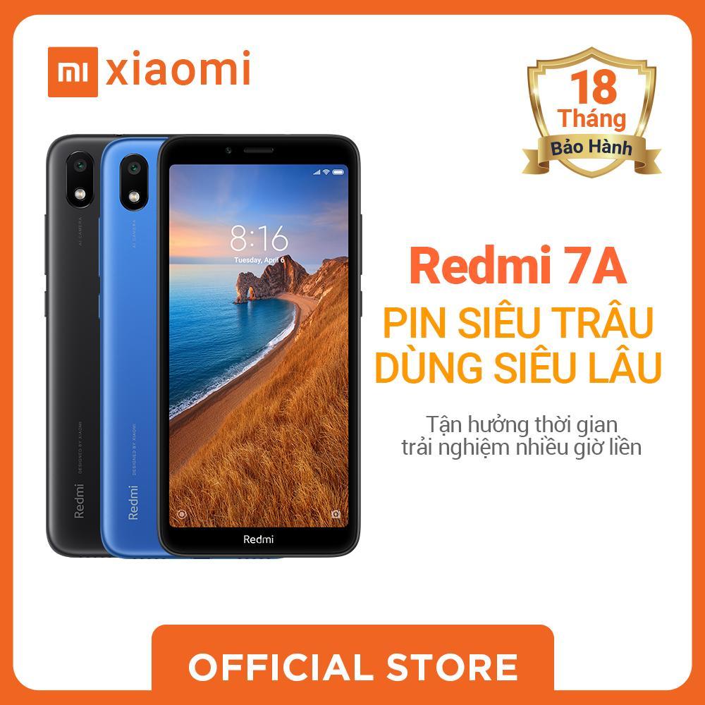 Xiaomi official Điện Thoại Redmi 7A, 2GB+32GB, Đen / sắc lam, Bảo hành điện tử 18 tháng