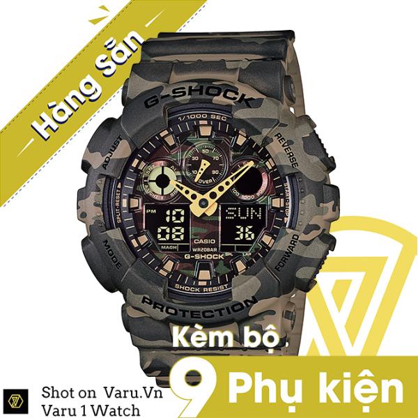 [Cao Cấp] Đồng hồ thể thao nam nữ G-Shock GA-100CM-5A Full phụ kiện bán chạy