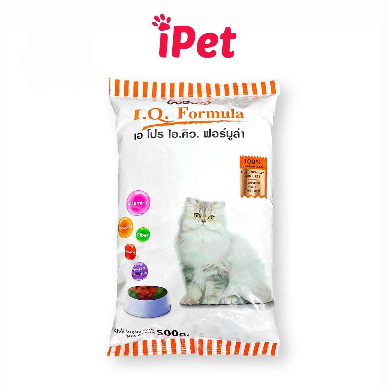 [HCM]Thức Ăn Hạt Khô Cho Mèo APro IQ Formula 500g - iPet Shop